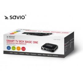 SAVIO SMART TV BOX BASIC ONE, 1/8 GB, ANDROID 7.1, HDMI V2.0, 4K, USB, WIFI, SD TB-B01