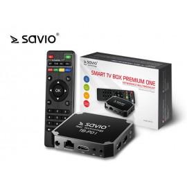 SAVIO SMART TV BOX PREMIUM ONE, 2/16 GB, ANDROID 7.1, HDMI V2.0, 4K, USB, WIFI, SD TB-P01