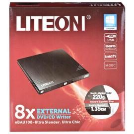 Nagrywarka DVD Liteon eBAU108 USB 2.0 Zewnętrzny Czarny BOX