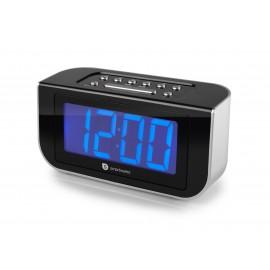 Radiobudzik Audiosonic CL-1475 czarno-srebrny
