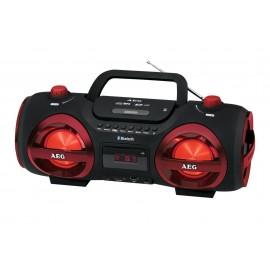 Radioodtwarzacz przenośny AEG SR 4359 czarno-czerwony