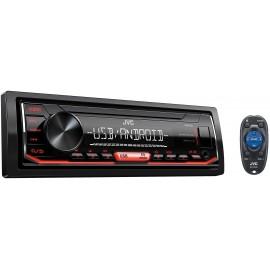 Radioodtwarzacz samoch. JVC KD-X152 USB MP3 Red